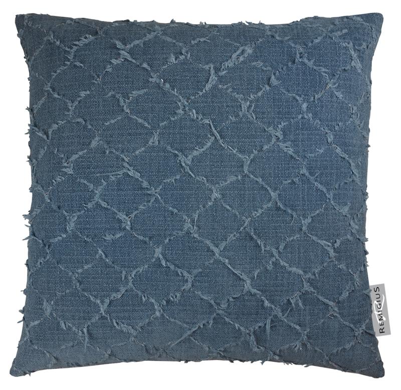 330 Pillow Tropea Navy Sil 55x55