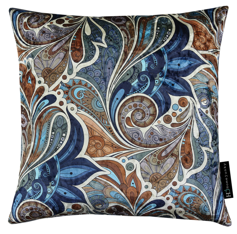 256 Pillow IV Paisley Garden Royal Blue 45x45