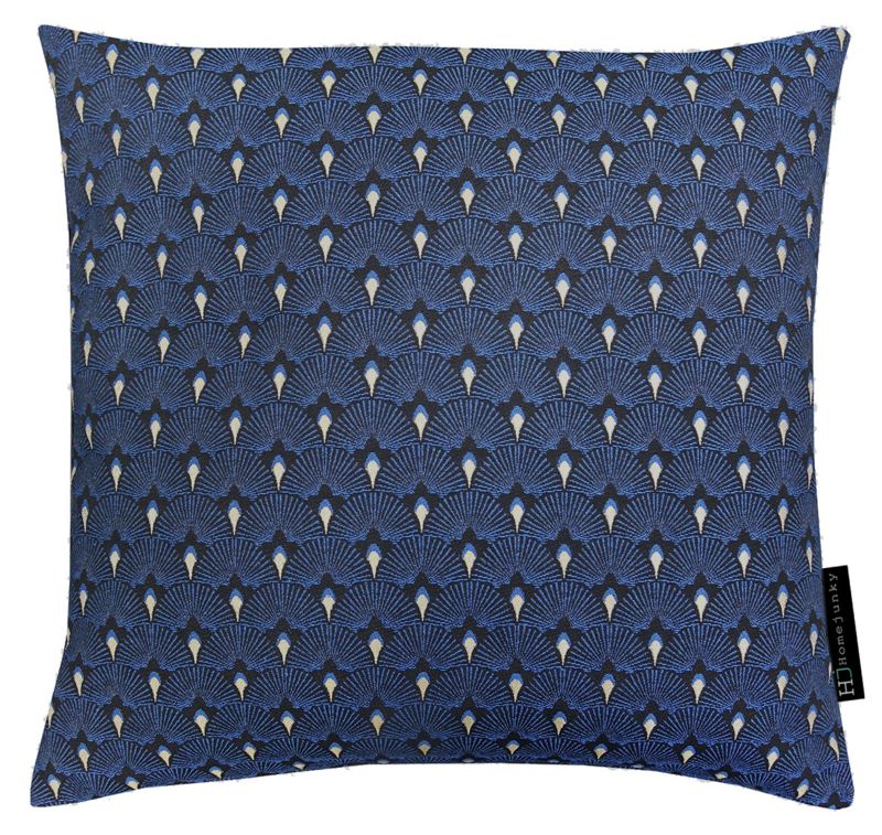 250 Pillow Jacquard Fan Blue gold 50x50
