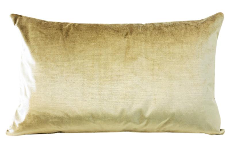 334 Kussen Satijn Velours Light Gold 60x40