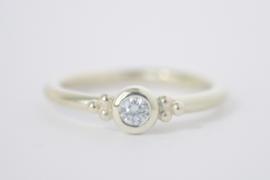 Ringensetje oud goud en diamant