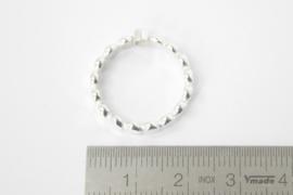 Zilveren stippen ring (groot) met zirconia