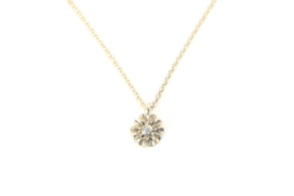Fijn gouden kettinkje met Little Daisy hanger en diamant