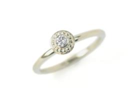 Ring geelgoud en diamant