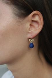 Mix & Match - oorhaken goud met Lapis Lazuli
