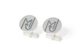 Manchetknopen met initialen MJ