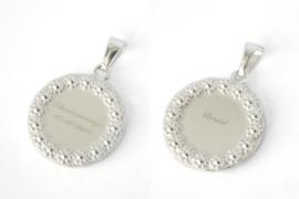 Zilveren hanger bloemenmeisje