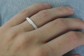 Zilveren ring 'X'