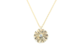 Kettinkje Daisy in goud met diamant