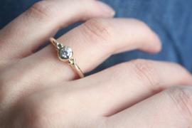 Ring gemaakt van 'oud goud'