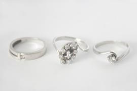 Witgouden ring met diamant - van erfstukken gemaakt
