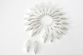 Zonnebloem van zilveren bestek