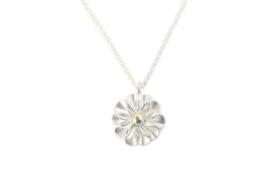 Kettinkje Daisy zilver met gouden detail
