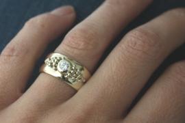 Trouwringen samengevoegd tot 1 nieuwe ring