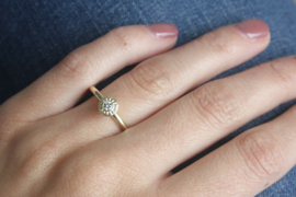 Ring geelgoud en diamant