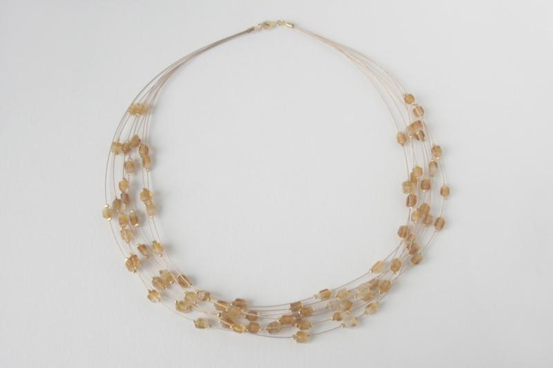 Collier met Middeleeuwse glaskralen