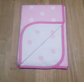 Deken 75x105 cm Dots - roze