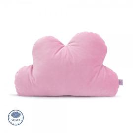Kussen Wolk - roze - velvet