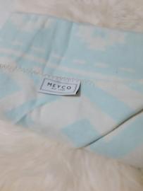 Ledikantdeken Meyco - etnic blauw