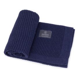 Gebreide deken Donkerblauw