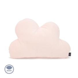 Kussen Wolk - licht roze - velvet