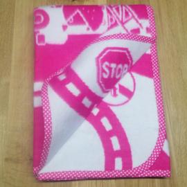 Deken 75x105 cm Weg - roze