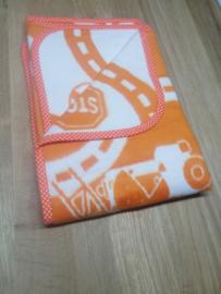 Deken 75x105 cm Weg - oranje