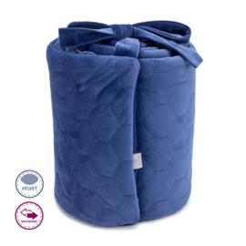 Hoofdbeschermer Donkerblauw velvet