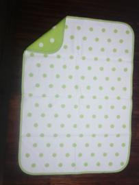 Deken 75x105 cm Dots - groen