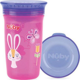 Beker 360°   - rose - Nuby 300 ml