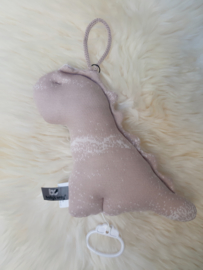 Muziekdoos Baby's Only - Dino marble - Oud roze