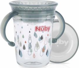 Beker 360  met handvaten - grijs - Nuby