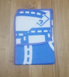 Deken 75x105 cm Weg - blauw