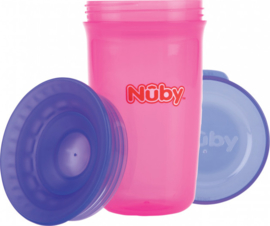 Beker 360°   - rose / paars - Nuby 300 ml