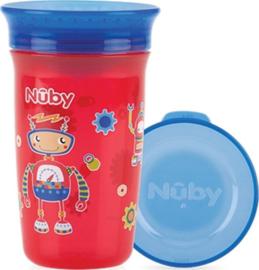 Beker 360°   - rood - Nuby 300 ml