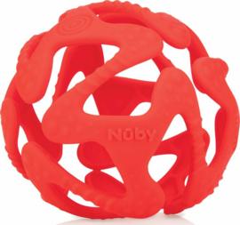 Flexibele silicone teething ball - rood