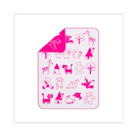 Deken 105x150 cm Dieren roze