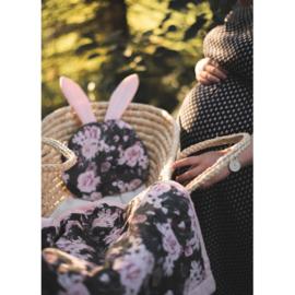 Baby deken Night Flowers - velvet