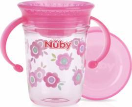Beker 360  met handvaten - rose - Nuby