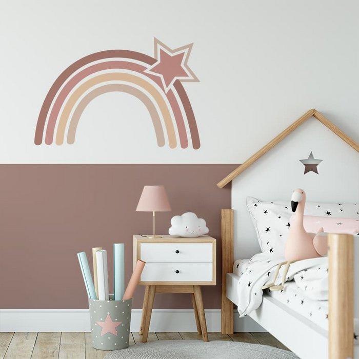 Muursticker regenboog aardetinten 62x42cm