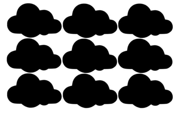 Muursticker wolk