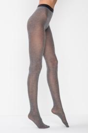 Panty 60 denier katoen, gemêleerd grijs