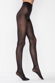 Panty 60 denier katoen, Zwart