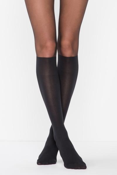 Black boot tights