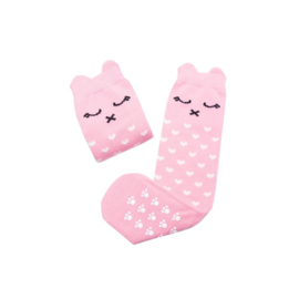 Kniekousen animals lilly a pink kitty