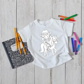 T-shirt om in te kleuren