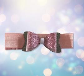Haarbandje dubbele strik roze