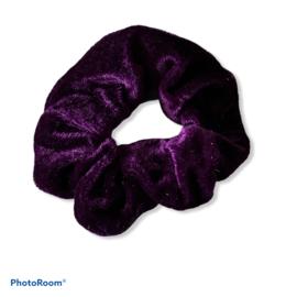 Velvet scrunchie Donker paars