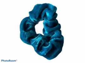 Velvet scrunchie turquoise