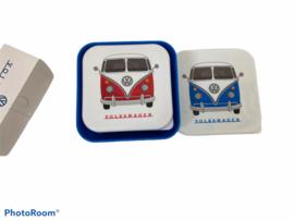 Set 3 Lunchtrommels - Volkswagen Kampeerbus VW T1 M/L/XL